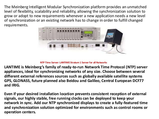Time synchronization solutions for financial and trading