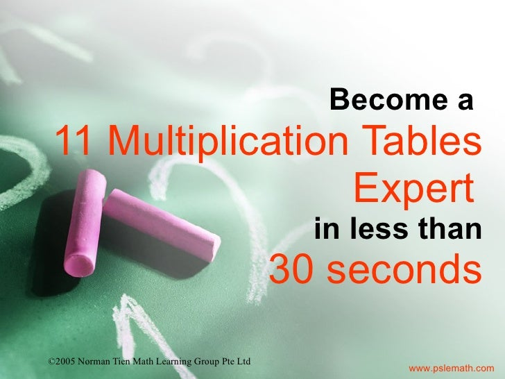 Become a  11 Multiplication Tables Expert   in less than 30 seconds