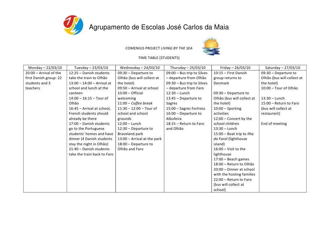 Agrupamento de Escolas José Carlos da Maia                                                             COMENIUS PROJECT LI...