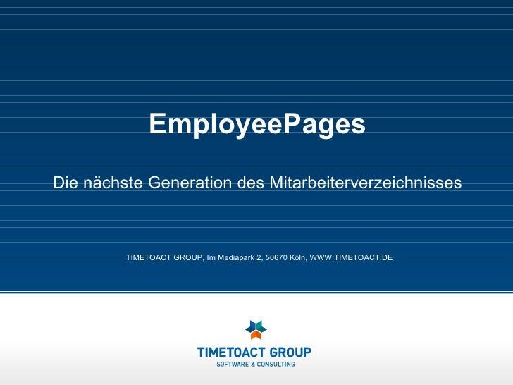 Employee Pages