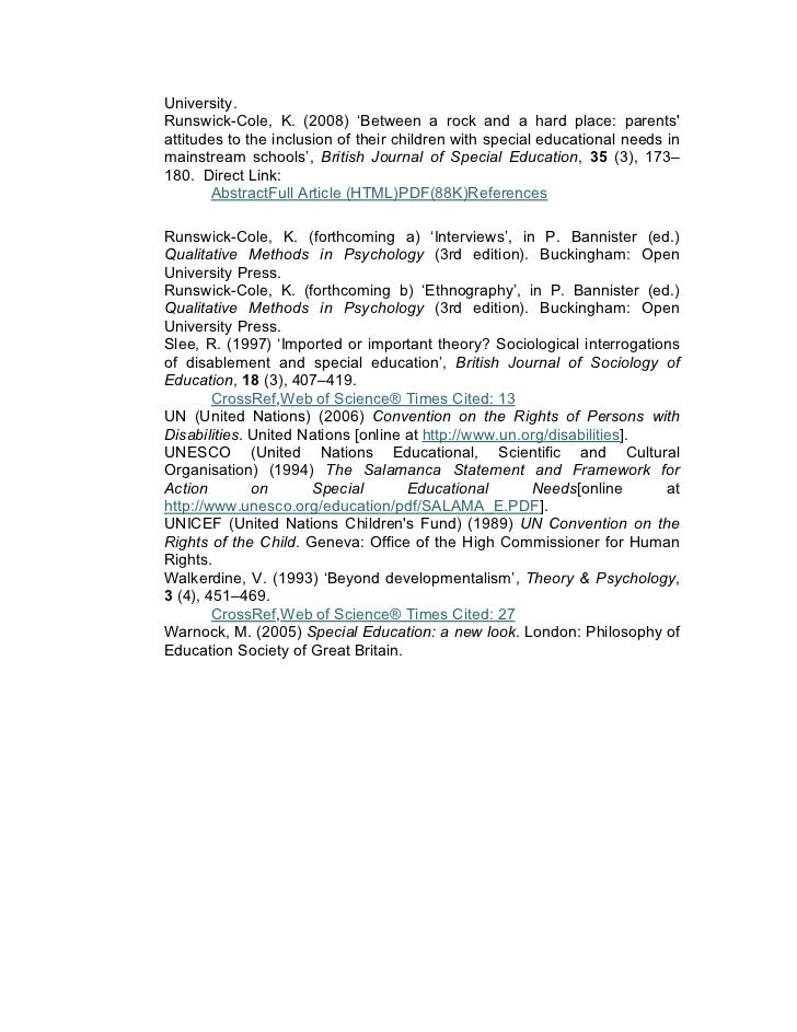 Phd thesis on inclusive education