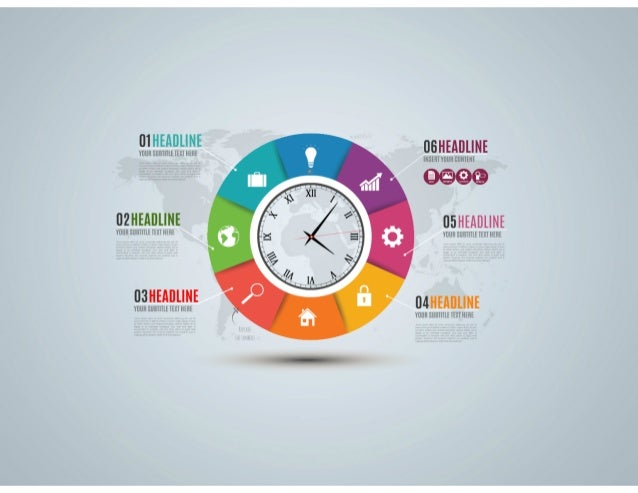 Clock Infographic Presentation Template