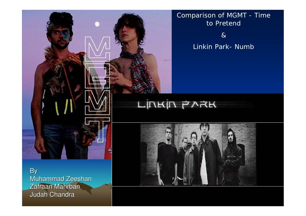 Comparison of MGMT - Time                            to Pretend                               &                        Lin...
