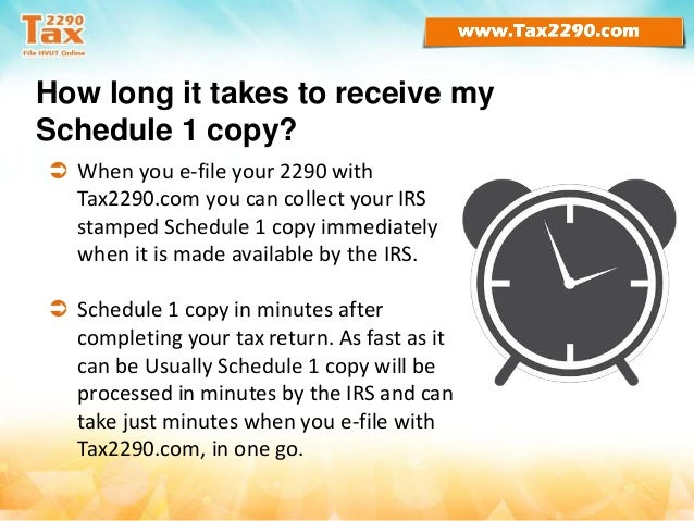 Time to renew form 2290 heavy vehicle use tax for 2016-17
