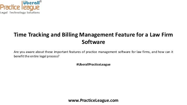 Time tracking and billing management feature of law firm software