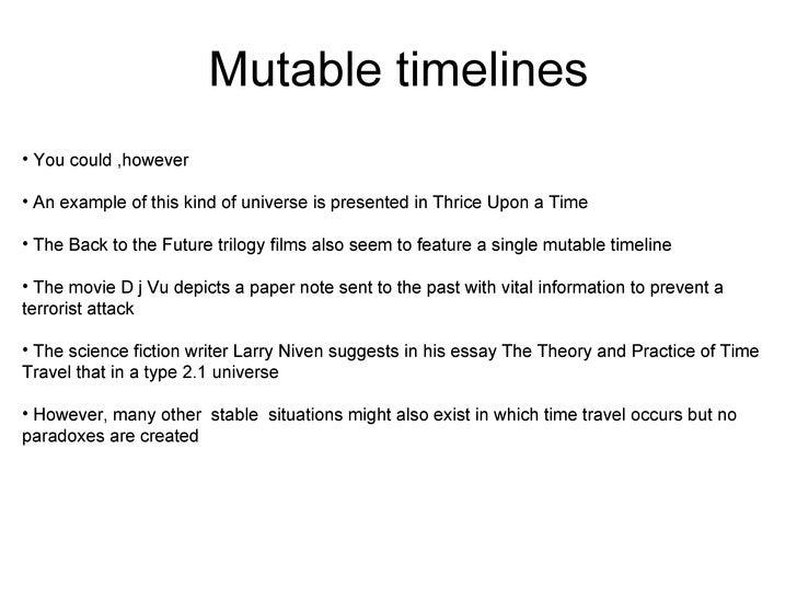 Time travel essays