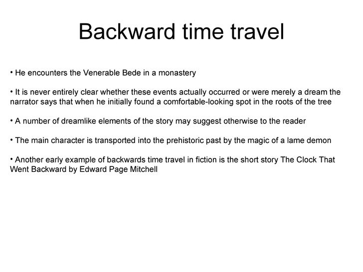 10 Ideas for a Time Travel Story
