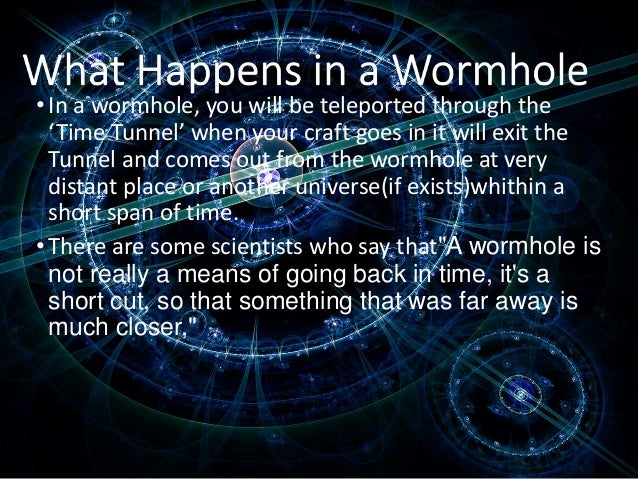 Wormhole Theory Time Travel