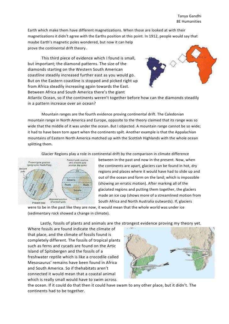Geology/The Theory of the Continental Drift term paper 55