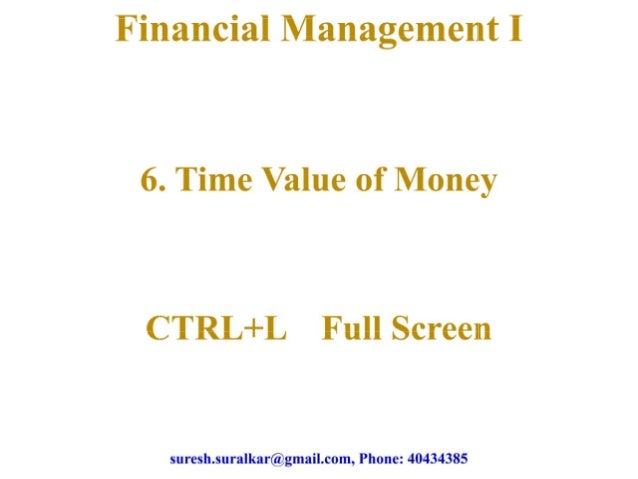 Time value of money   1