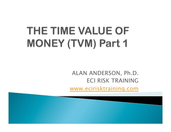 ALAN ANDERSON, Ph.D.      ECI RISK TRAINING www.ecirisktraining.com
