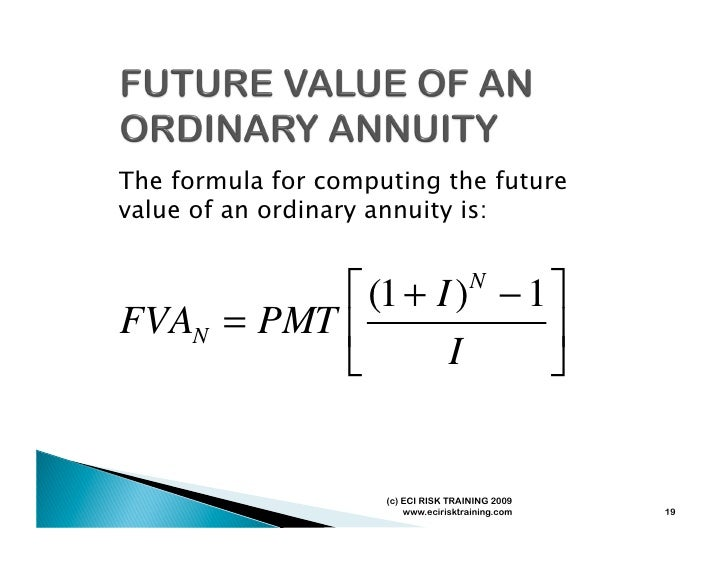 Time value of money formula