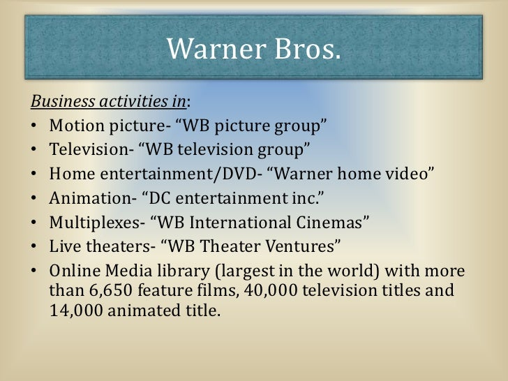 swot film and warner bros Village roadshow limited : company profile and swot analysis village roadshow limited : company profile and swot analysis  warner bros.