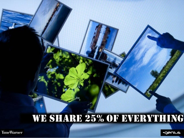 We Share 25% of everything