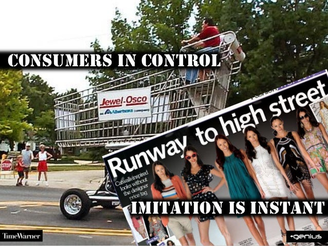 consumers in controlImitation is instant