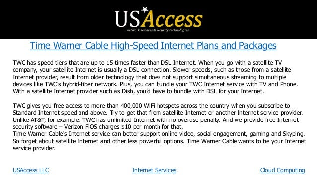 Time Warner Cable Internet Plans & Prices