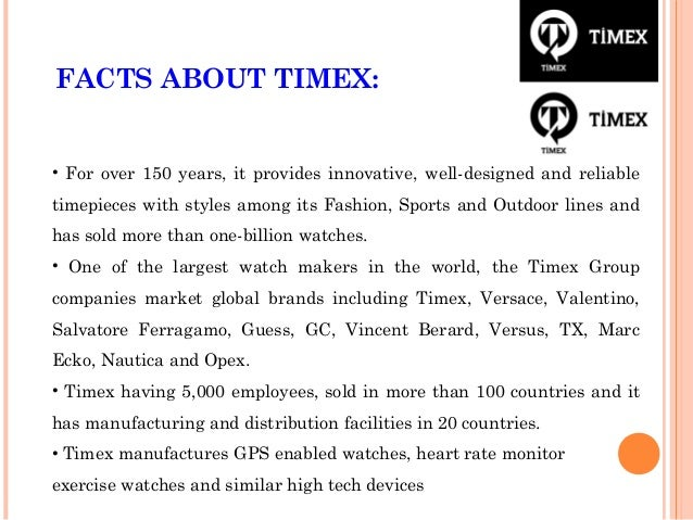 timex distribution channel