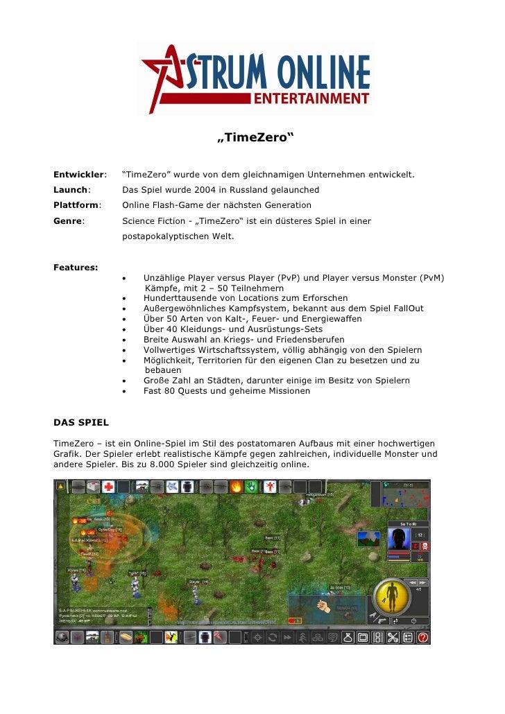 """""""TimeZero""""   Entwickler:     """"TimeZero"""" wurde von dem gleichnamigen Unternehmen entwickelt. Launch:         Das Spiel wurd..."""