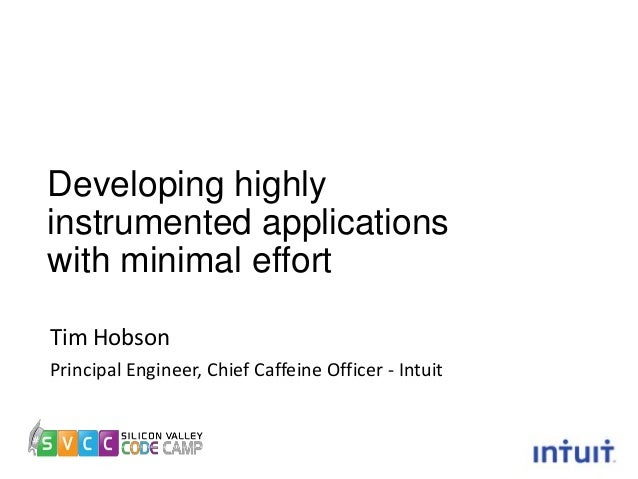 Developing highly instrumented applications with minimal effort Tim Hobson Principal Engineer, Chief Caffeine Officer - In...