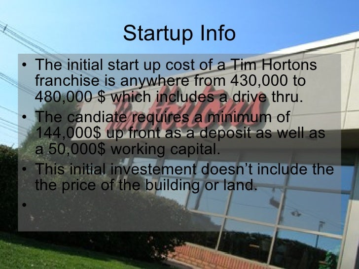 how to buy a tim hortons franchise