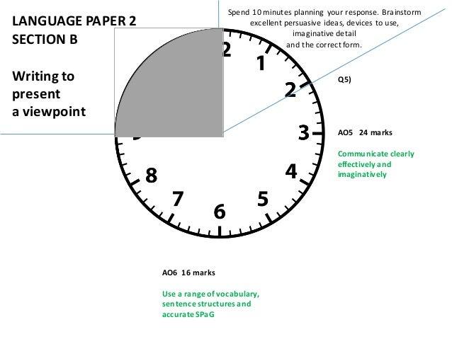 Timings English Language AQA GCSE