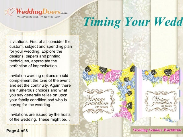 Timing Your Wedding Invitations