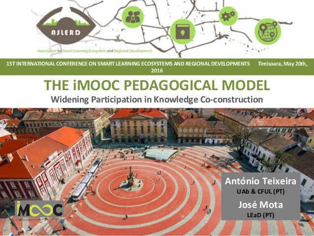 THE iMOOC PEDAGOGICAL MODEL Widening Participation in Knowledge Co-construction 1ST INTERNATIONAL CONFERENCE ON SMART LEAR...