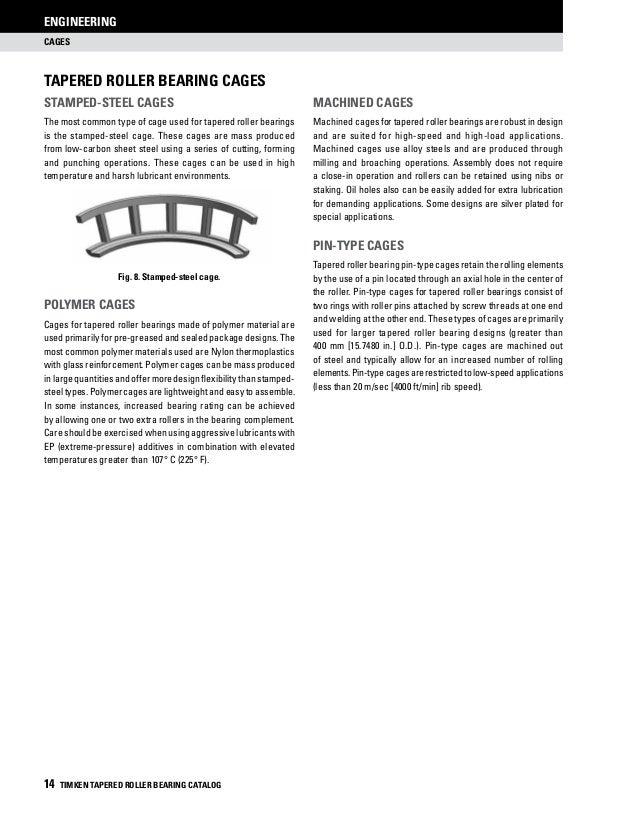 Timken Tapered Roller Bearing Catalog - TIMKEN - PDF Catalogs