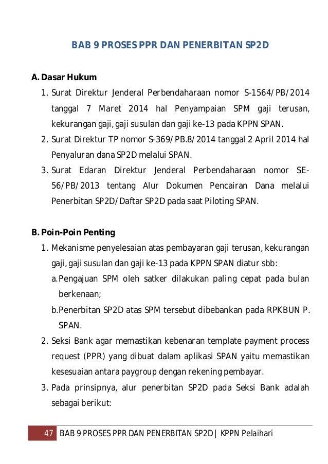 48 BAB 9 PROSES PPR DAN PENERBITAN SP2D   KPPN Pelaihari Pelaksana Seksi Bank a. Menerima SPPT dari Petugas Pengatur Dokum...