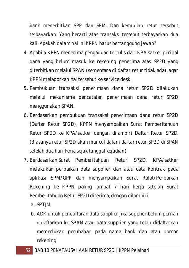 53 BAB 10 PENATAUSAHAAN RETUR SP2D   KPPN Pelaihari c. Surat permintaan perubahan data supplier dalam hal perubahan data s...