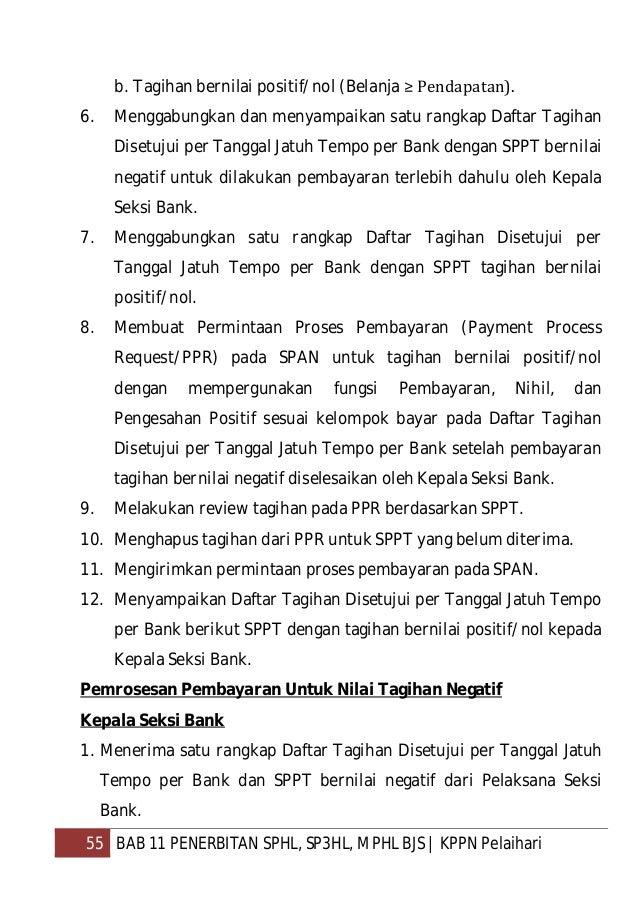 56 BAB 11 PENERBITAN SPHL, SP3HL, MPHL BJS   KPPN Pelaihari 2. Melakukan review Daftar Tagihan Disetujui per Tanggal Jatuh...