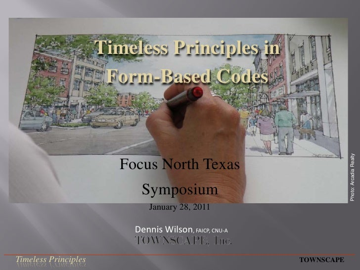 Timeless Principles in                       Form-Based Codes                                                             ...