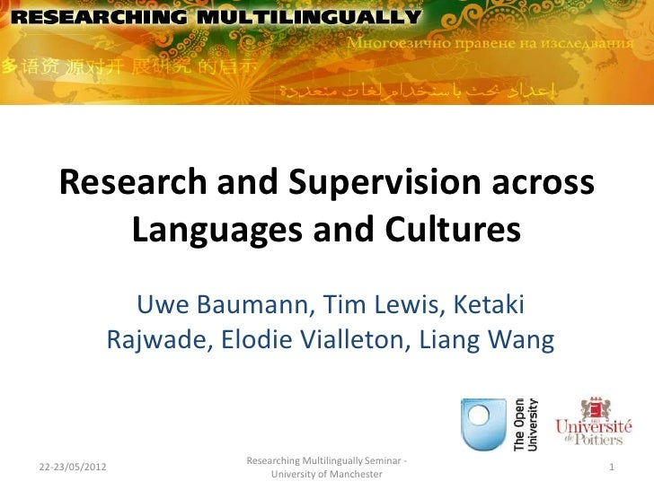 Research and Supervision across       Languages and Cultures              Uwe Baumann, Tim Lewis, Ketaki            Rajwad...