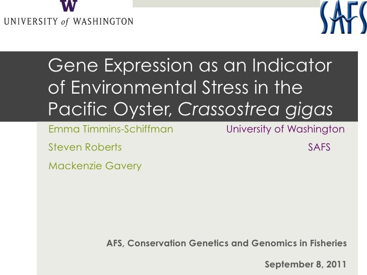 Gene Expression as an Indicatorof Environmental Stress in thePacific Oyster, Crassostrea gigasEmma Timmins-Schiffman      ...