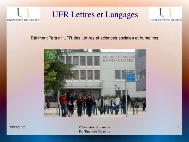 Présentation du campus - Université Nantes / Tertre Slide 2