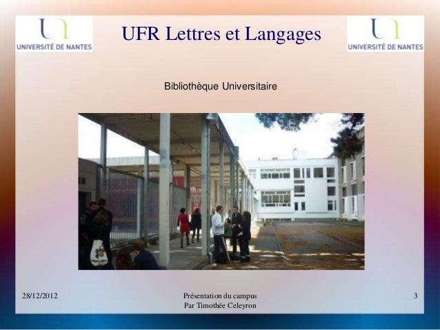 Présentation du campus - Université Nantes / Tertre Slide 3