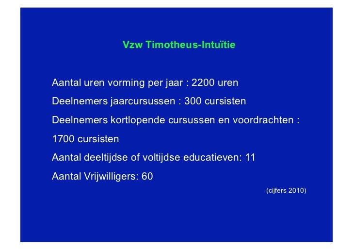 Timotheus vanuit een multilevelbril Slide 2