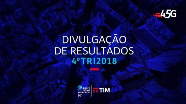 TIM Participações – Relações com Investidores Apresentação de Resultados