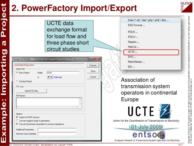 Importing/Exporting a project using DIgSILENT PowerFactory