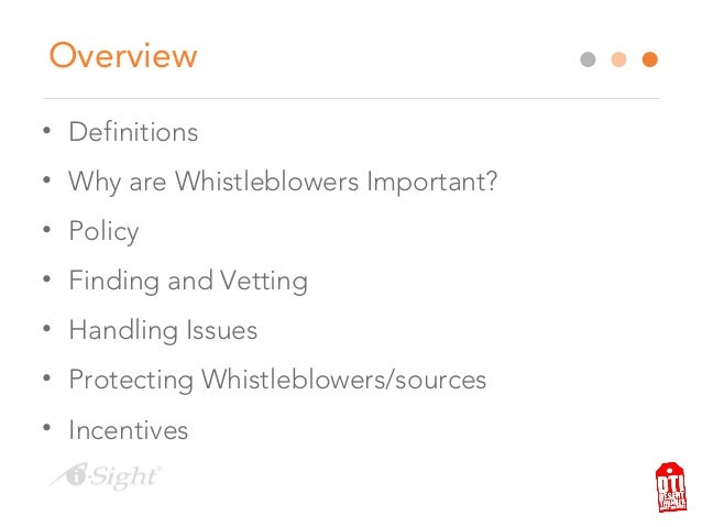 Webinar - Working with Whistleblowers and confidential