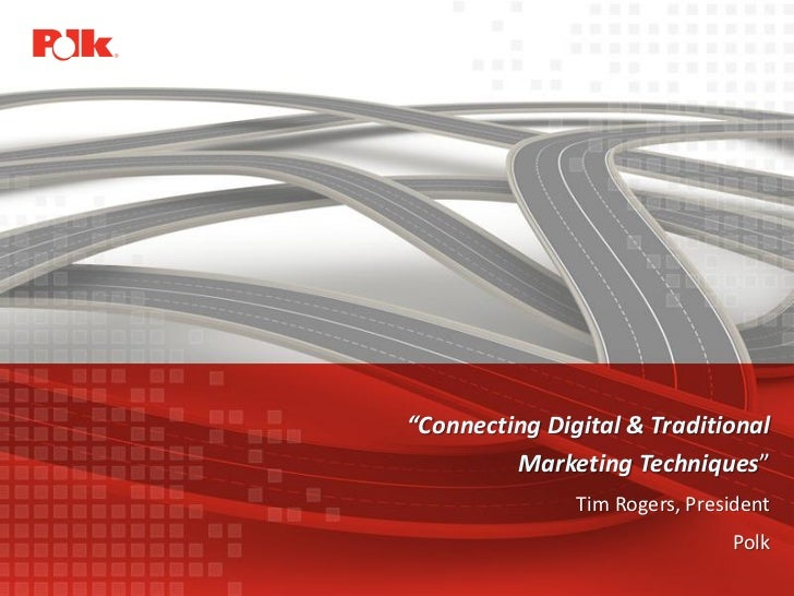 """""""Connecting Digital & Traditional                                                        Marketing Techniques""""            ..."""