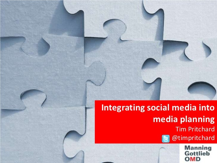 Integrating social media into media planning<br />Tim Pritchard <br />@timpritchard<br />