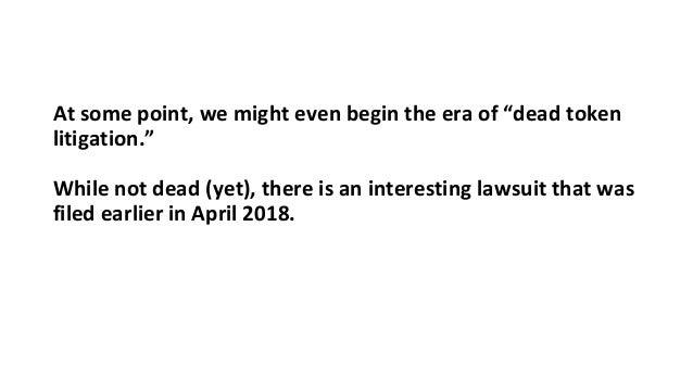 Color around Dead Token Litigation