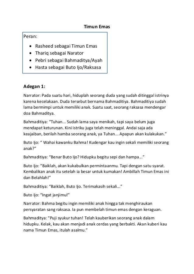 Cerpen Timun Mas Dalam Bahasa Inggris Dan Terjemahannya Vinny