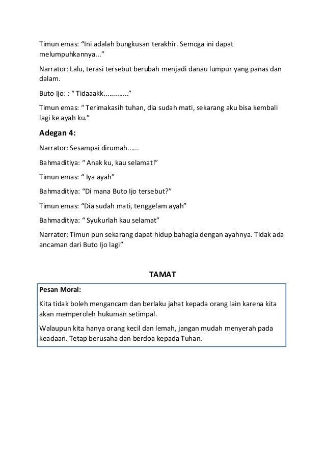 Teks Drama Singkat Keong Mas - Contoh 36