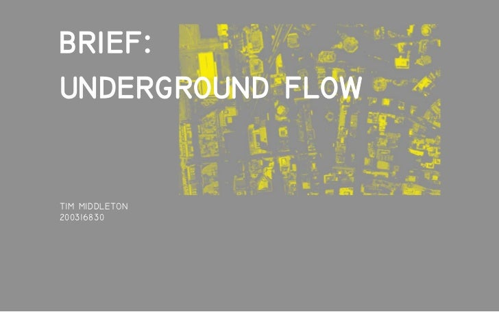 brief: underground flow  TIM MIDDLETON 200316830
