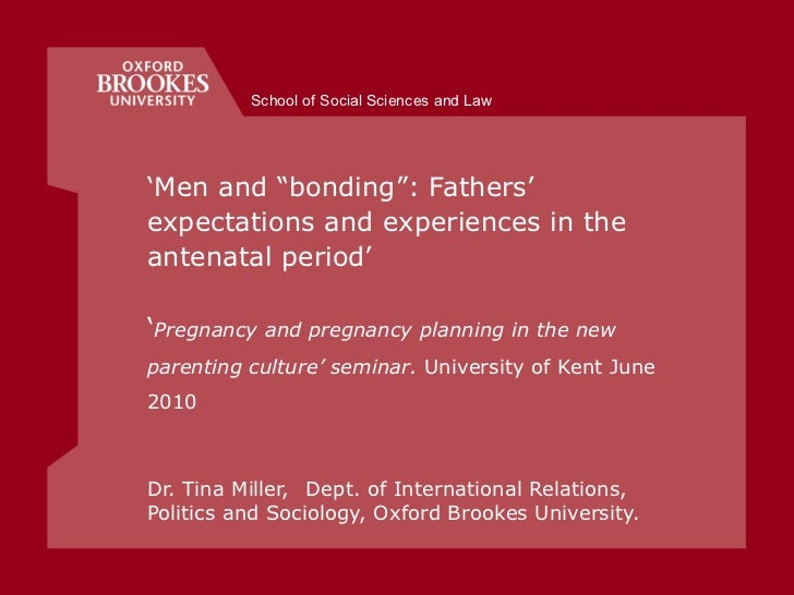 "' Men and ""bonding"": Fathers' expectations and experiences in the antenatal period'  ' Pregnancy and pregnancy planning in..."
