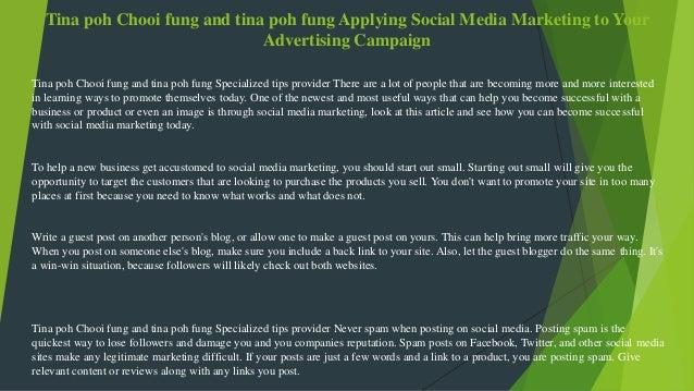 Tina poh chooi fung and tina poh fung applying social media marketing…