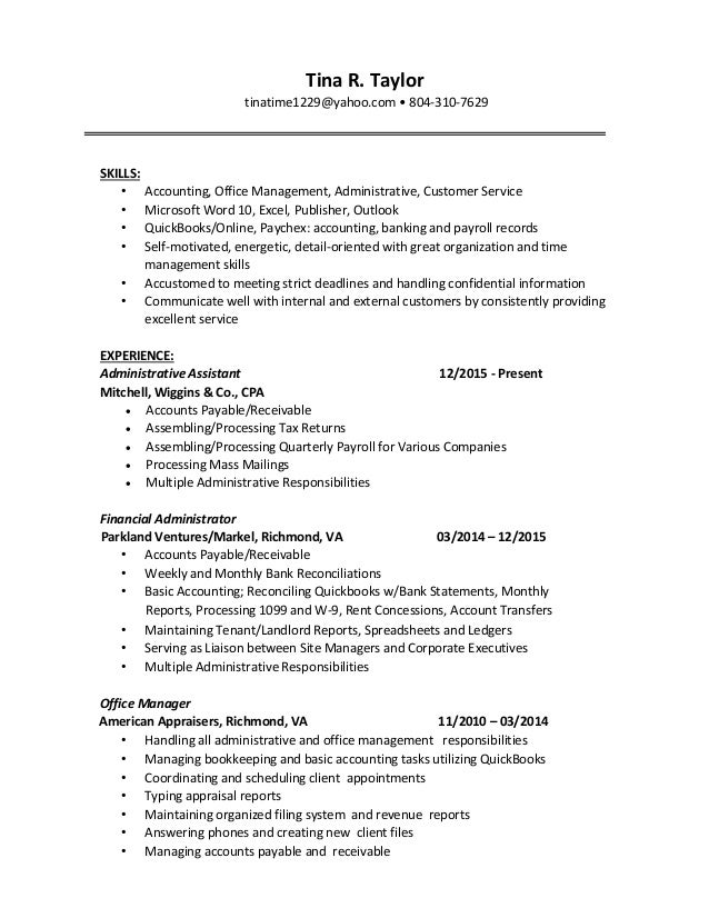 Beautiful Richmond Va Accounting Resume Pictures - Best Resume ...