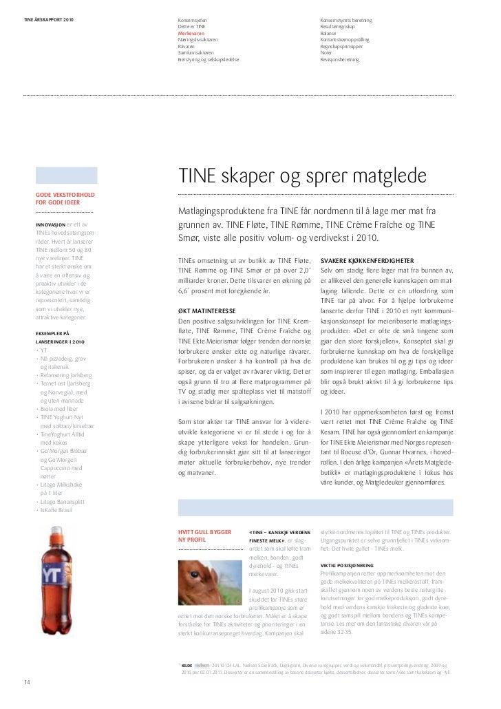 f3b3f68b4ce Årsrapport TINE Gruppa 2010
